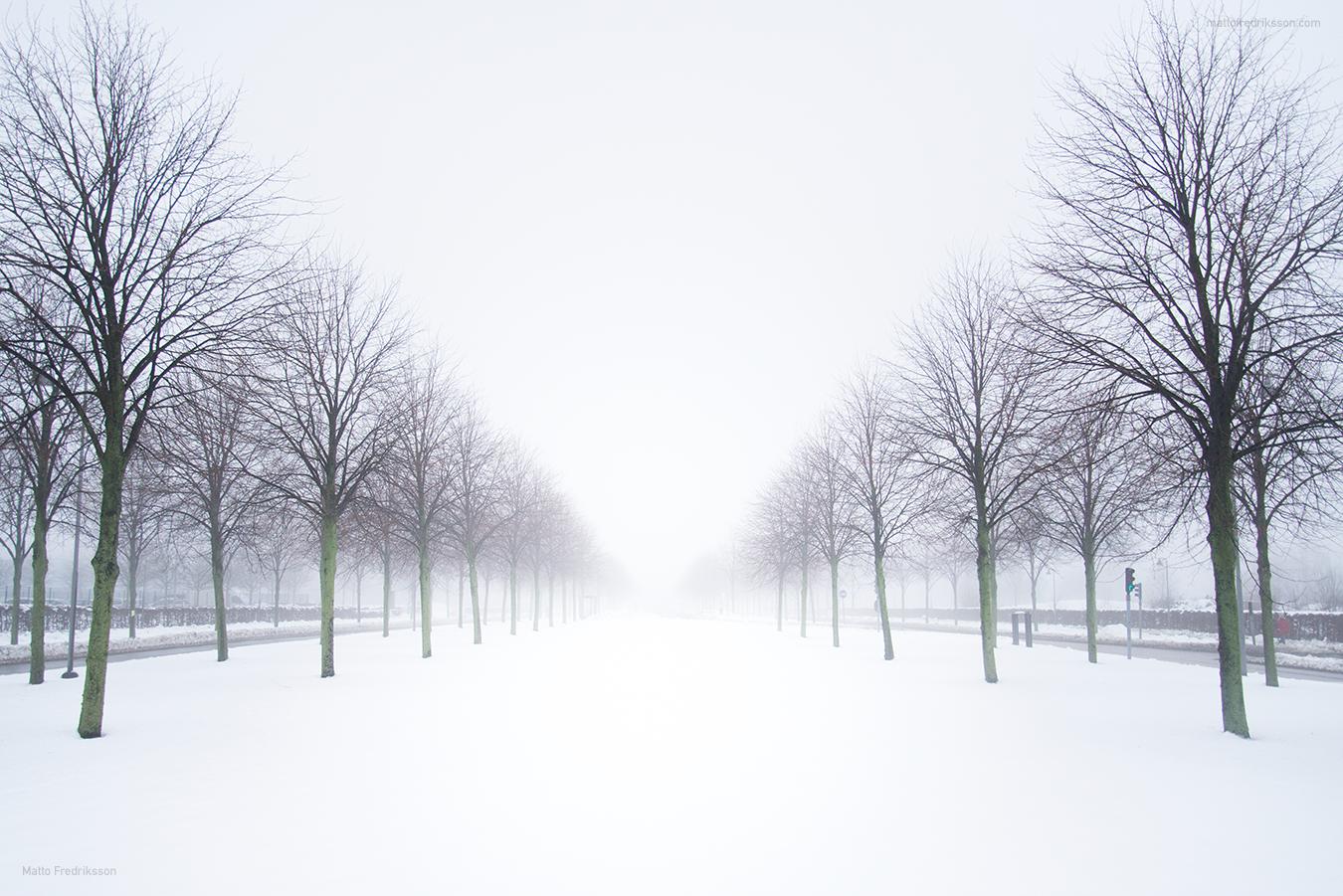 Snö på Hisingen
